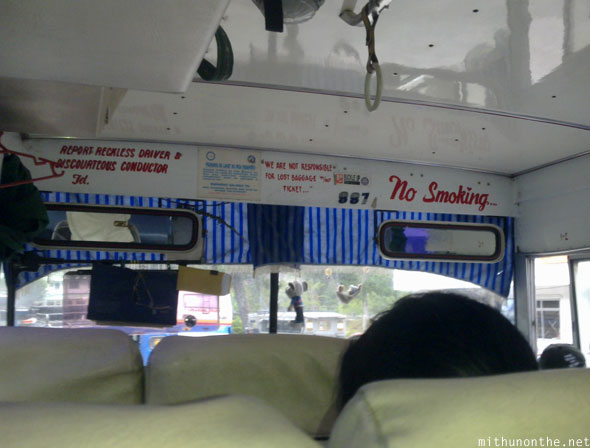 Inside Sagada first bus to Baguio early morning