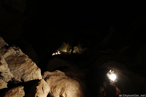 Inside Sumaguing cave going down