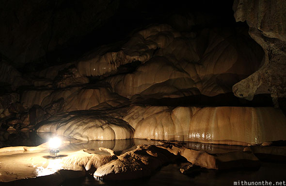 Inside sumaguing cave limestone cave rock