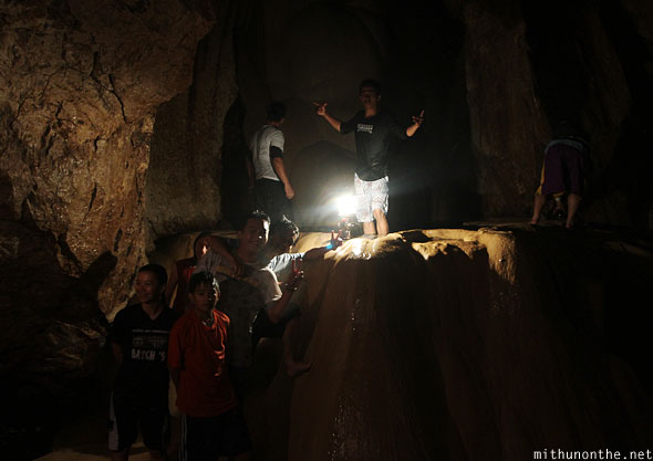 Inside sumaguing cave limestone rock filipinos