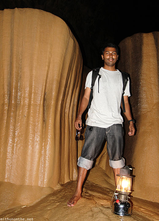 Inside Sumaguing cave limestone rock formations Mithun