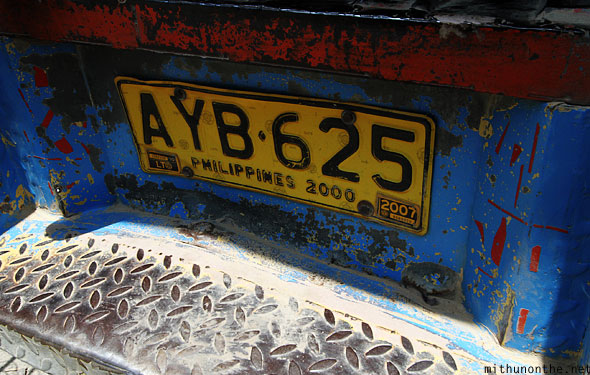 Jeepney license plate