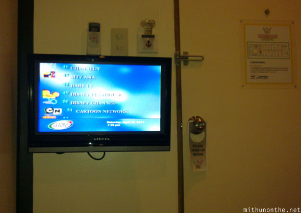 Kabayan hotel single pad LCD tv Manila Philippines