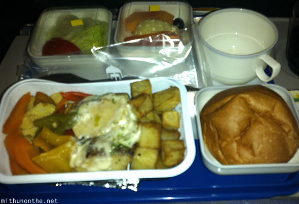 Malaysia Airlines seafood meal Bangalore flight