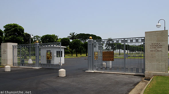 Manila American war cemetery entrance gates