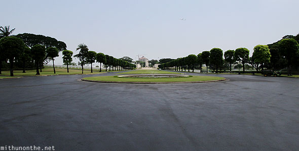 Manila American War Cemetery and memorial view from entrance