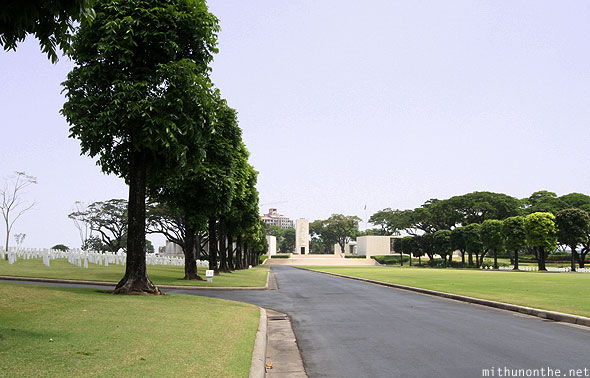 Manila American War Cemetery Memorial left road