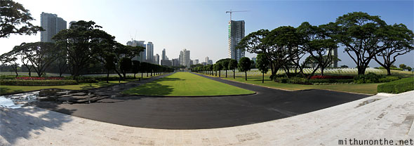 Manila American war cemetery memorial plaza view panorama