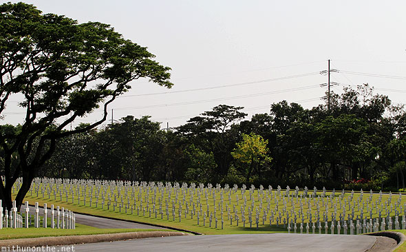 Manila American war cemetery memorial road graves
