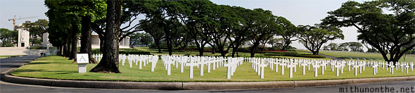 Manila American war cemetery war memorial section panorama