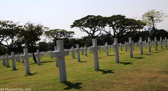 Manila American war cemetery war memorial crosses