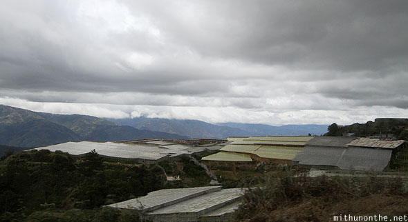 Mountain province farming grey clouds Philippines
