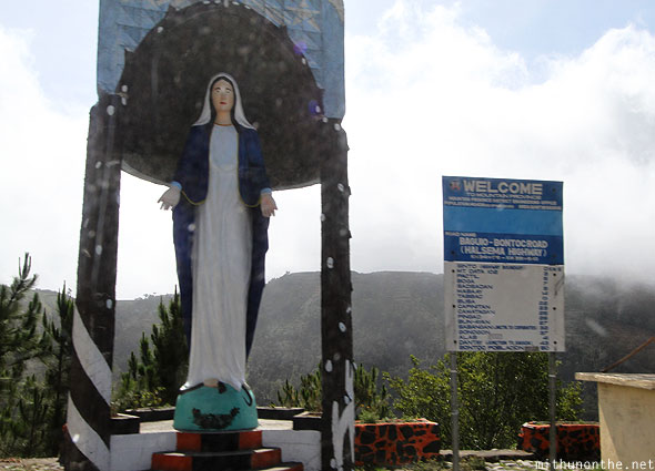 Mountain province highway Mary statue