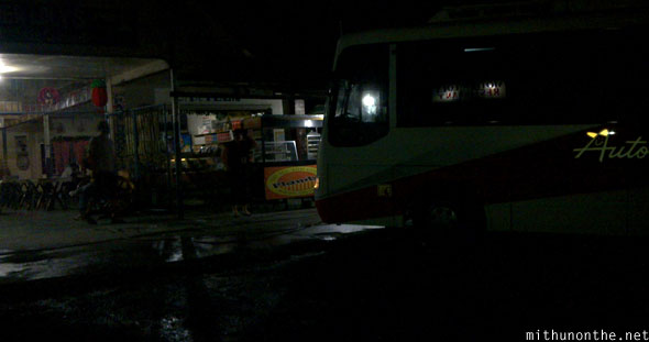 Overnight bus ride to Banaue Philippines