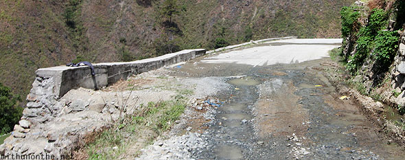 Pot-holed rough roads Bontoc highway