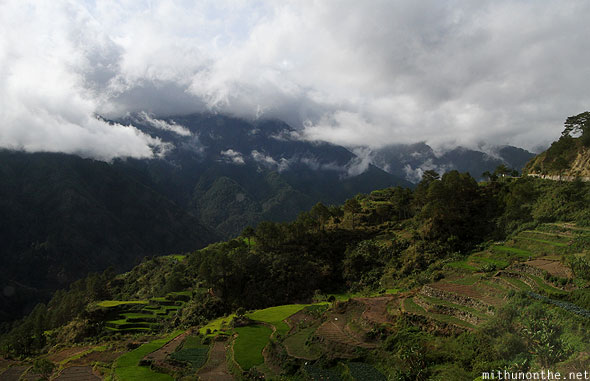 Rice terrace plateau Ifugao clouds Philippines