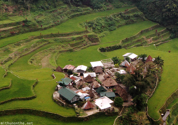 Rice terrace village in Banaue Philippines