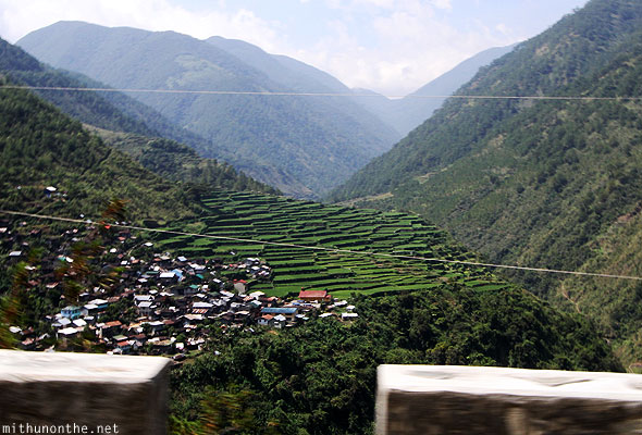 Rice terraces village on way to Bontoc