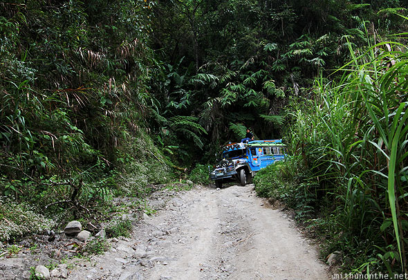 Road to Batad junction jeepney Banaue