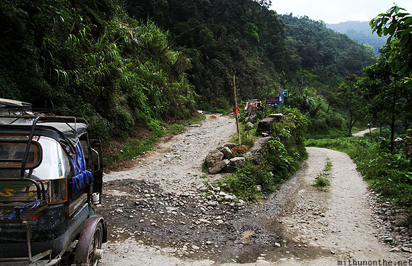 Road to Batad rice terrace Banaue