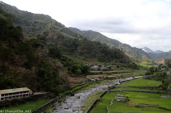 Sabangan village river paddy fields