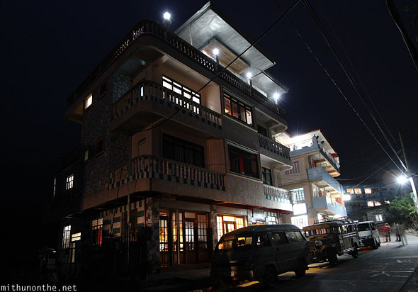 Sagada Goerge's Guesthouse at night