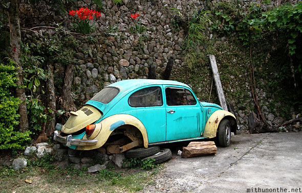 Sagada old beetle car