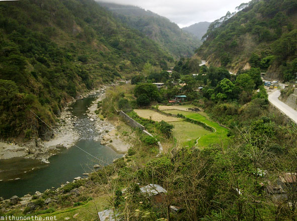 Sagada to Bagiuo bus journey view