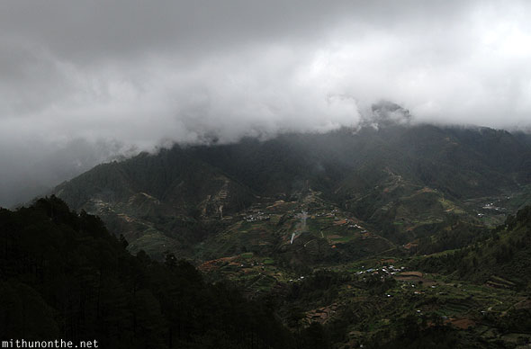 Sagada to Baguio grey skies village Philippines