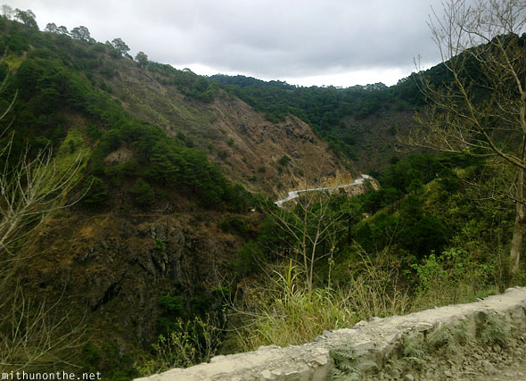 Sagada to Baguio hill bus ride