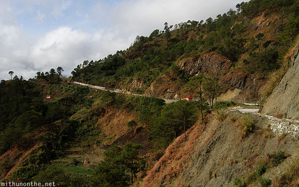 Sagada to Baguio hills highway Ifugao