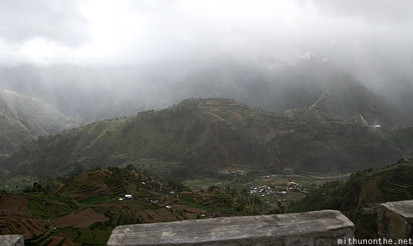 Sagada to Baguio misty rain clouds