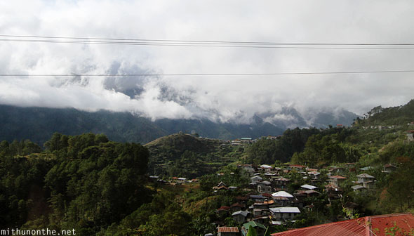 Sagada to Baguio hilly village clouds Philippines