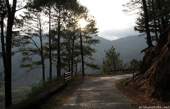 Sagada trekking trail evening sun Philippines