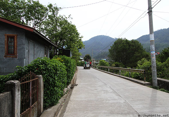 Sagada village concrete road