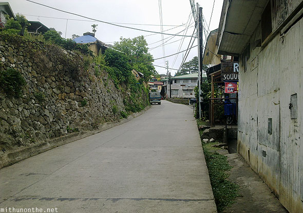 Sagada village road early morning