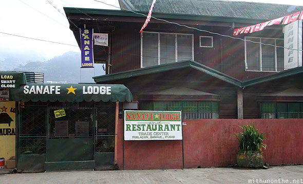 Sanafe lodge restaurant Banaue morning