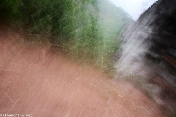Shaky cam falling down photograph