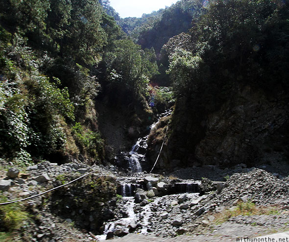 Small waterfall en route to Bontoc