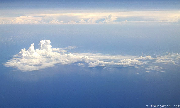 South China sea cloud over islands