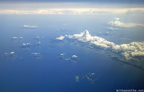 South China sea islands aerial photograph
