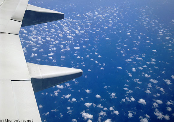 South China sea spotted clouds blue water