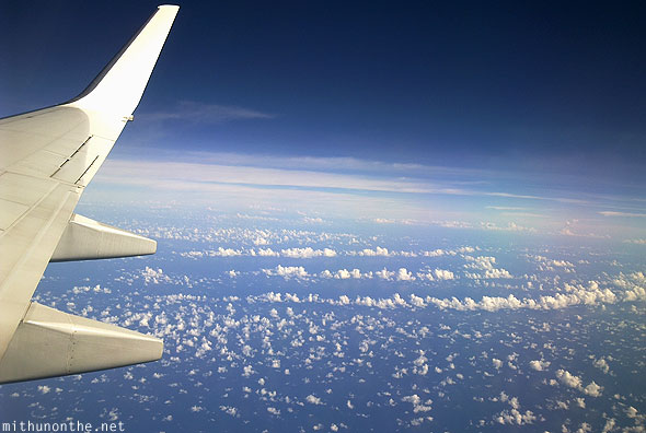 South China sea spotted clouds from plane