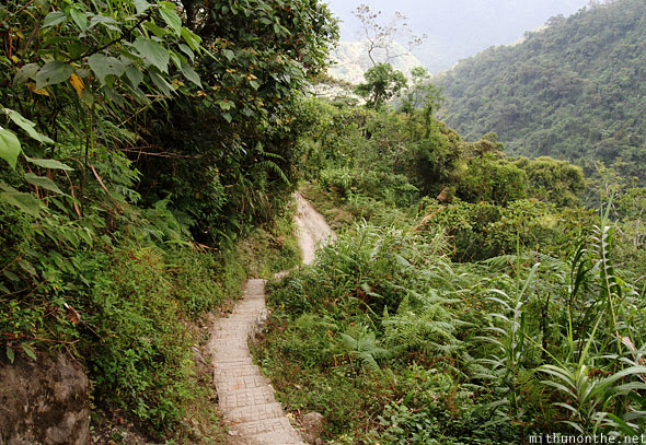 Steps to Batad village Banaue hill trek