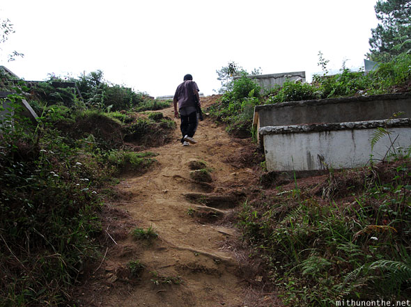 Steps to Church cemetery Sagada