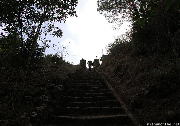 Steps up from Sumaguing cave Sagada