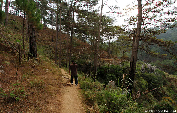 Trek to Echo valley Sagada Philippines
