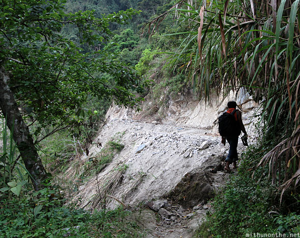 Trekking from Batad village to junction Banaue