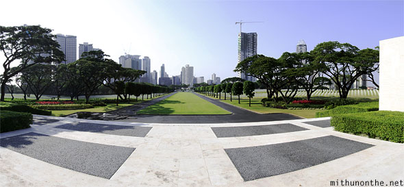 View from memorial plaza panorama