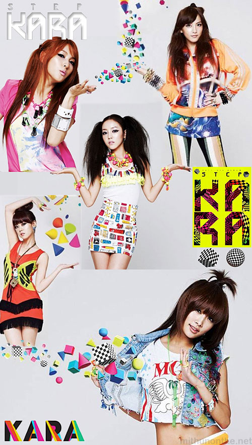 KARA step album cover photos members kpop girl group